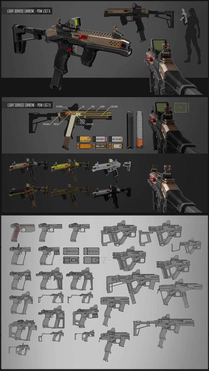 Light Carbine/PDW concept by vombavr