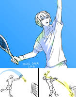 Tennis player by Sonic-Cake