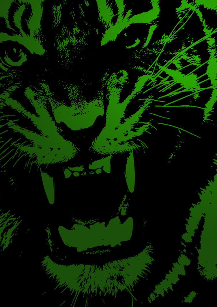 ANGRY GREEN TIGER by drummerlcfc on DeviantArt