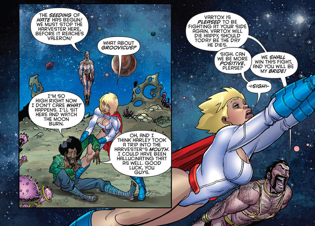 pissed off power girl...again by flavianos