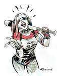 Harley Quinn bust commission