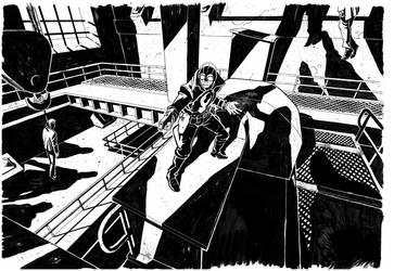 Lobster Johnson bw by flavianos
