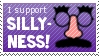 I Support Silliness Stamp.