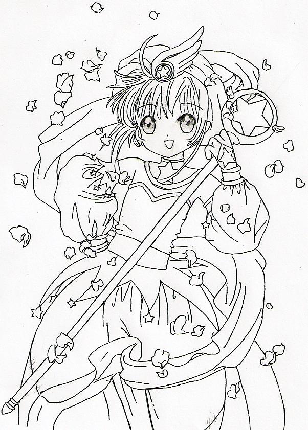 cardcaptor sakura coloring pages cardcaptor sakura for jing ink by zedyingchicken on deviantart