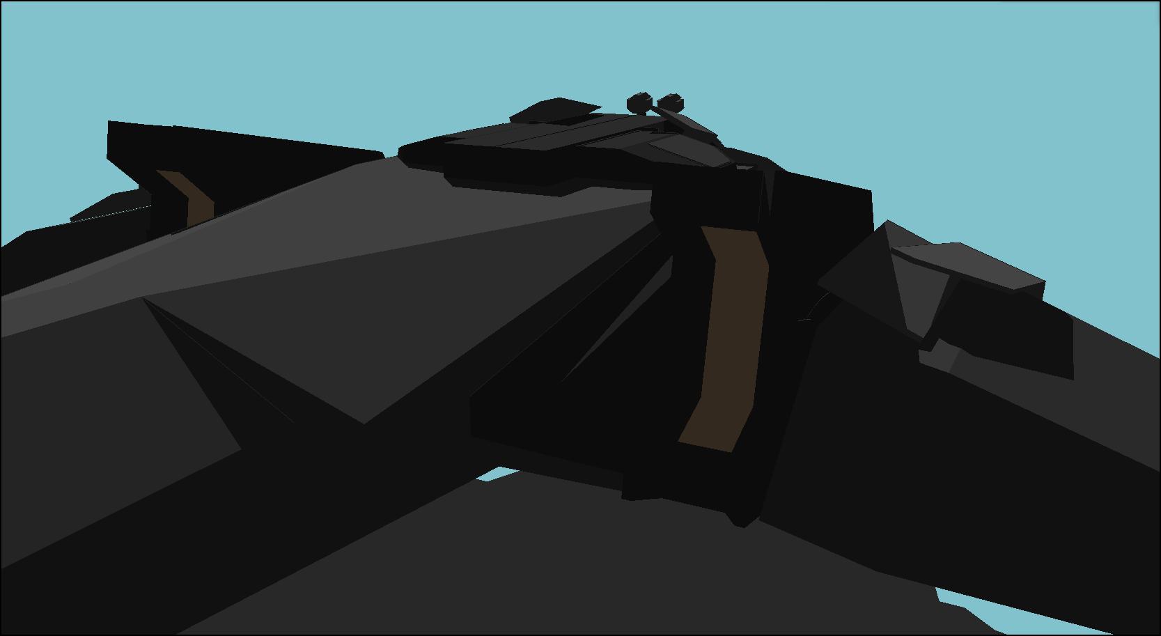 Alien Destroyer concept Engines by Gwentari