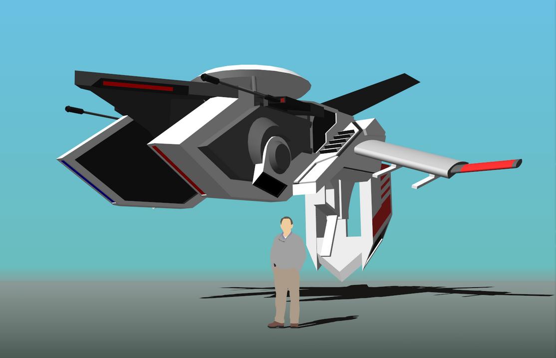 Pantheon VTOL Mode by Gwentari