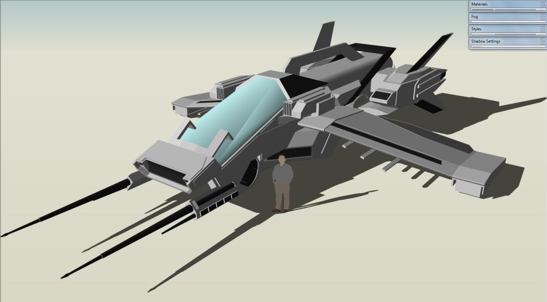 UEE Harrier Inteceptor Concept by Gwentari