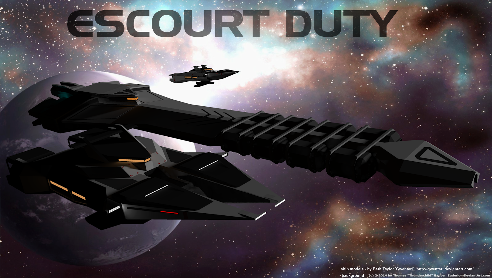 Escourt Duty by Gwentari