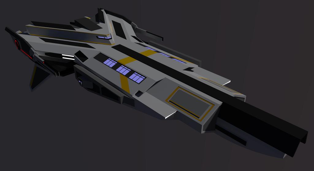 Dangan Class Warpfighter [Terran] by Gwentari