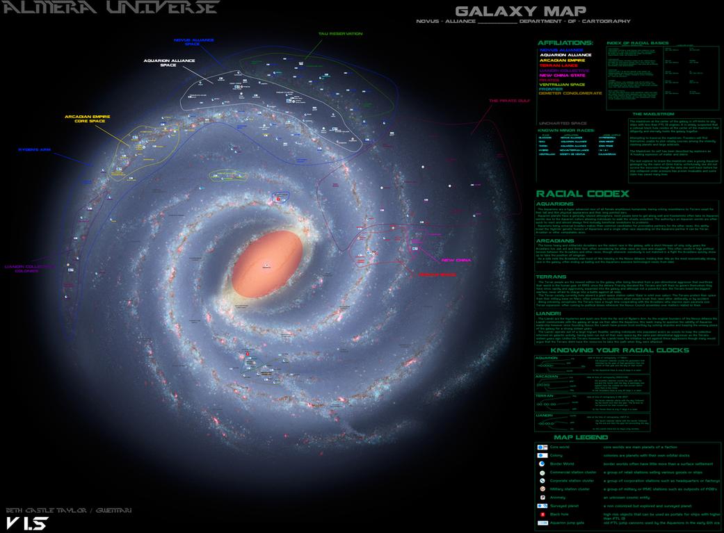[Almera Universe] Galaxy Map V-1.5 by Gwentari