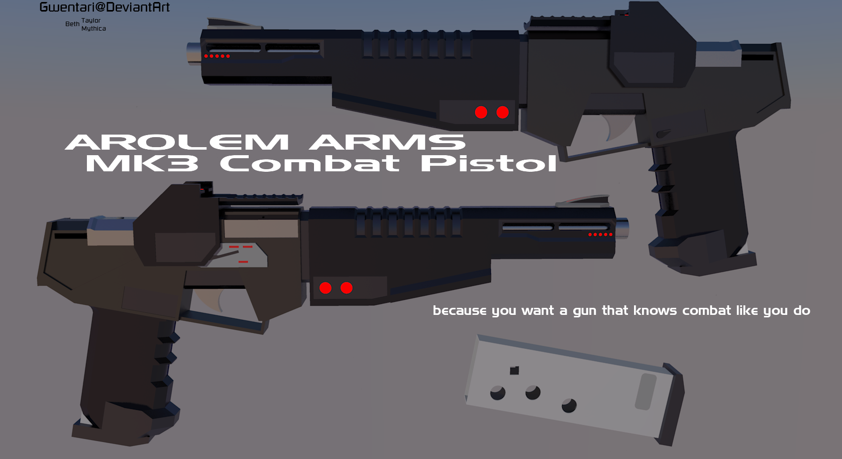 Mk3 Combat Pistol by Gwentari