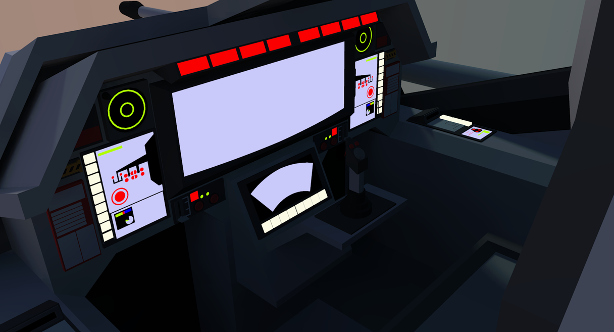 TI 28 Gunner Cockpit [Terran] by Gwentari
