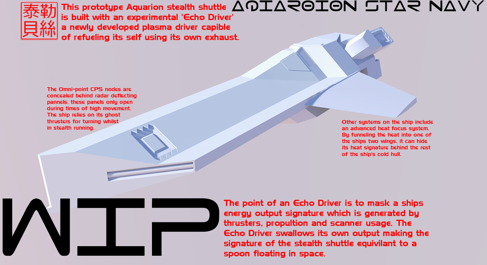 WIP Aquarion Stealth Shuttle by Gwentari