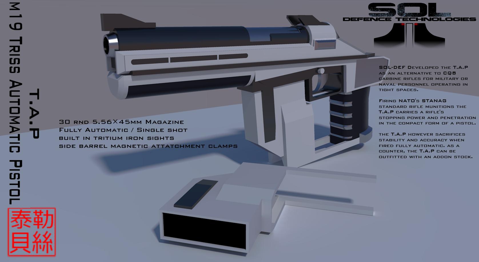 M19 Triss Automatic Pistol by Gwentari