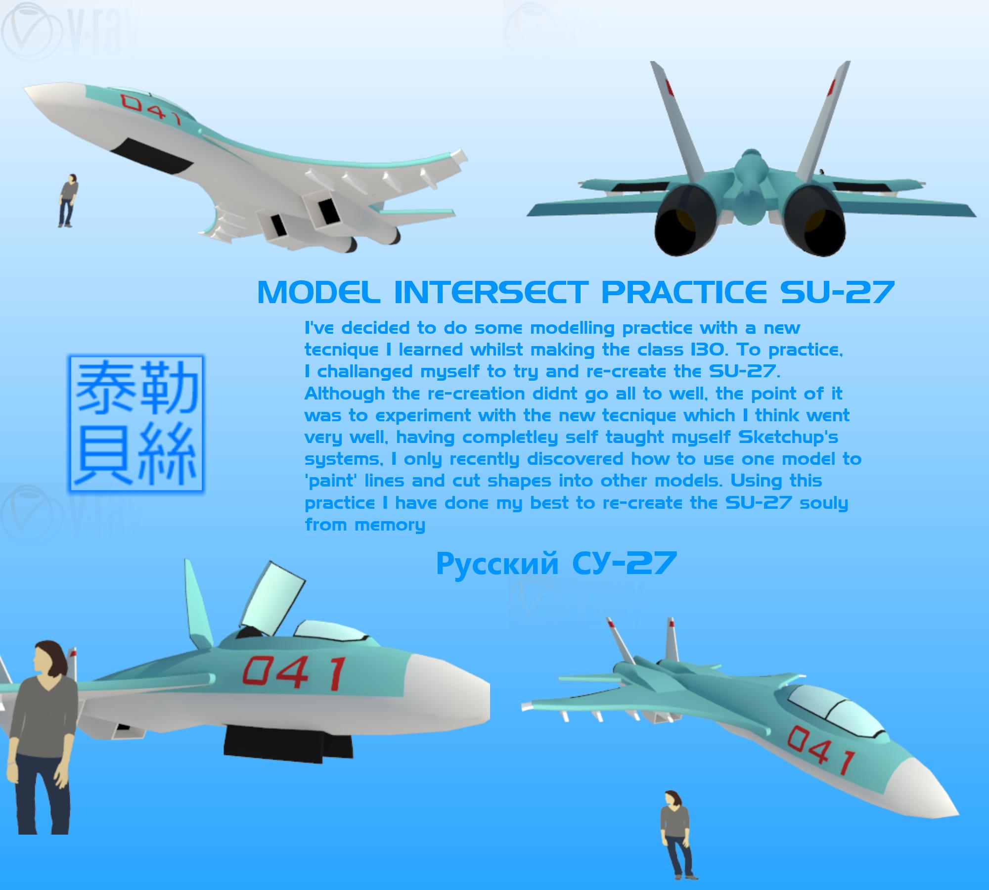 SU27 Practice [Model Intersection] by Gwentari