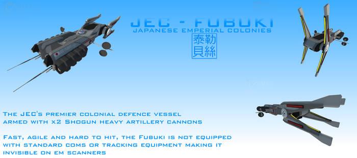JEC Fubuki Class Electronic Warfare Destroyer