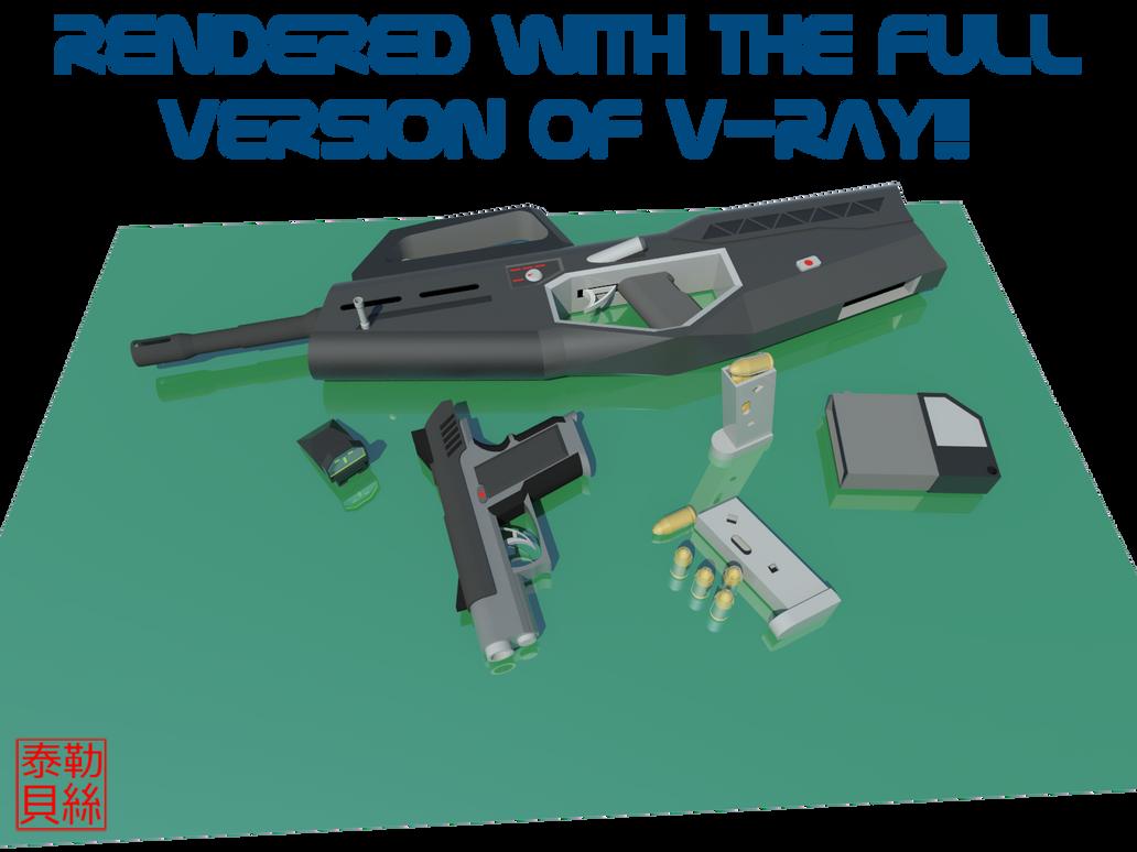 Japanese Weapons V-Ray ADV by Gwentari