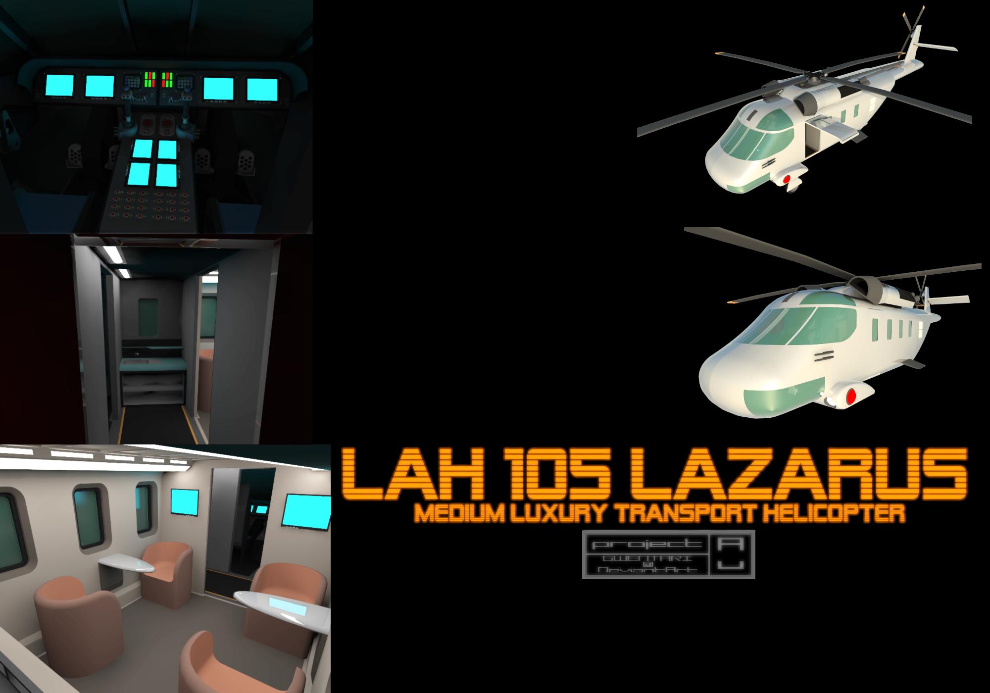 LAH 105 Lazarus Medium Helicopter by Gwentari