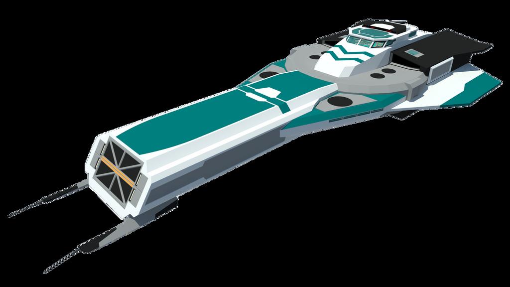 Gale Speed Class Frigate by Gwentari