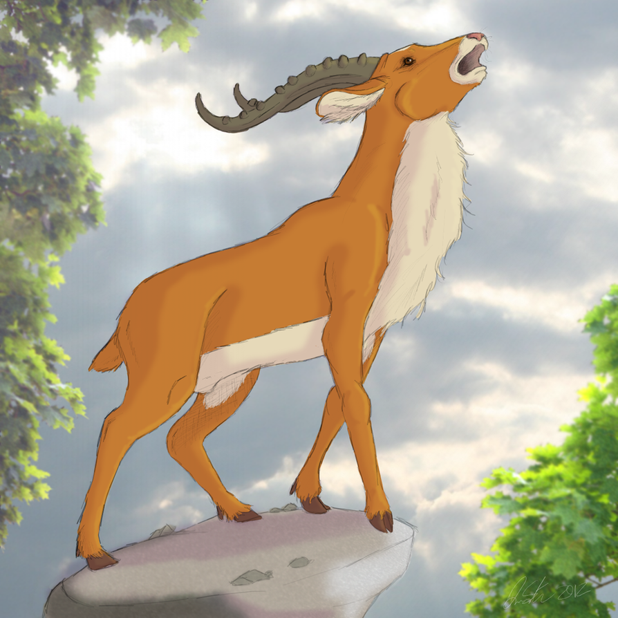 Yakul the red elk. by corgimancy on DeviantArt