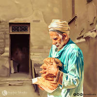 Haj Saber Painting Portrait by KarimStudio