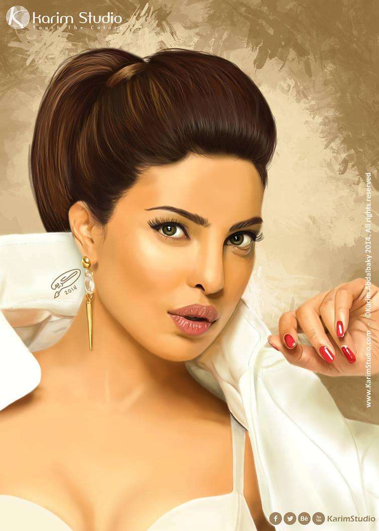 Priyanka Chopra | Digital Painting by KarimStudio