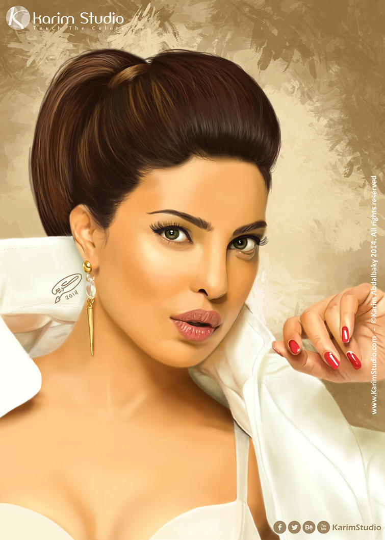 Priyanka Chopra | Digital Painting by KarimStudio