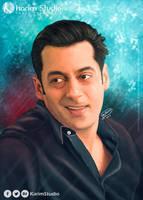 Salman Khan | Digital Painting by KarimStudio