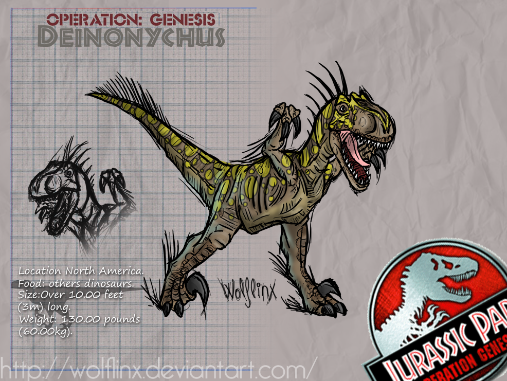 Deinonychus by WolfLinx on DeviantArt