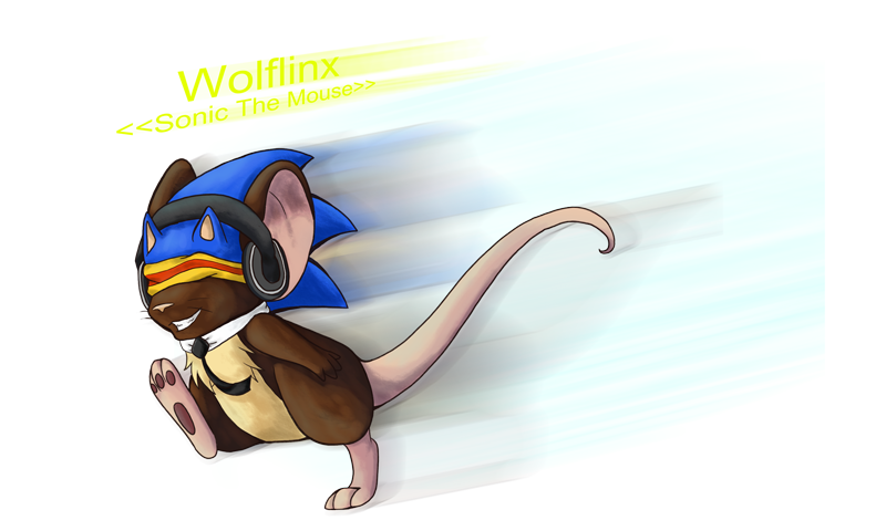Sonic the mouse by WolfLinx