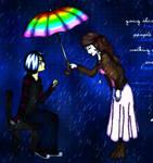 Emo in the rain