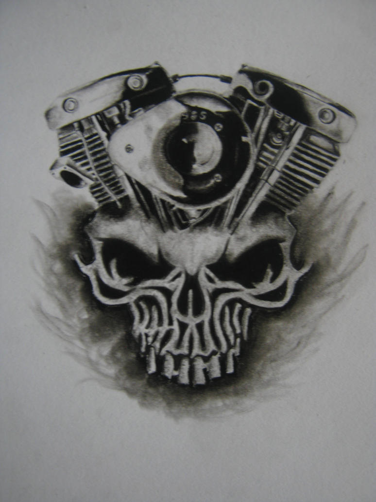 Daytona Bike Week Skull X Shovelhead Engine By Catescritters21 On DeviantArt