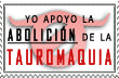 Abolicion Tauromaquia Stamp by whenSmyledoesnttalk