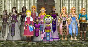 Comparison of some Zeldas in MMD