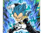Vegeta  S.S.blue - dragon ball Super manga by stopmotionOSkun