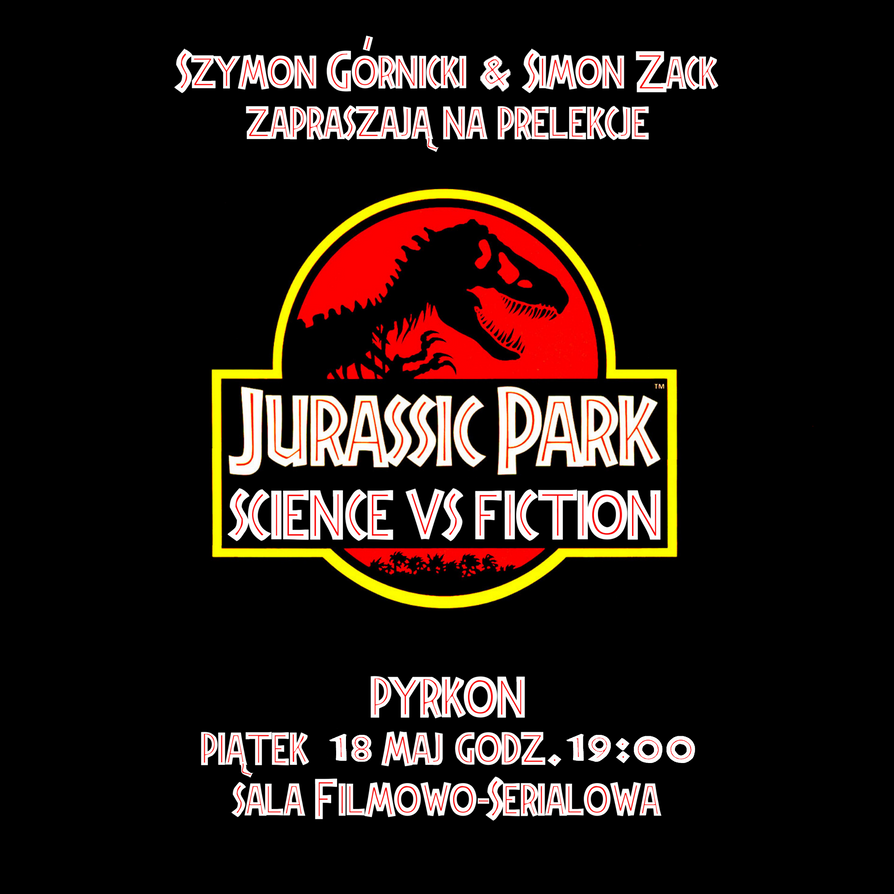 Jurassic park science vs fistion pyrkton poster by Szymoonio