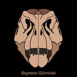 Tyrannosaurus skull Szymon Gornicki logo
