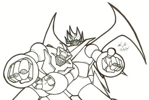 mazinger z coloring pages - photo#3