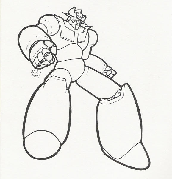 mazinger z coloring pages - photo#4