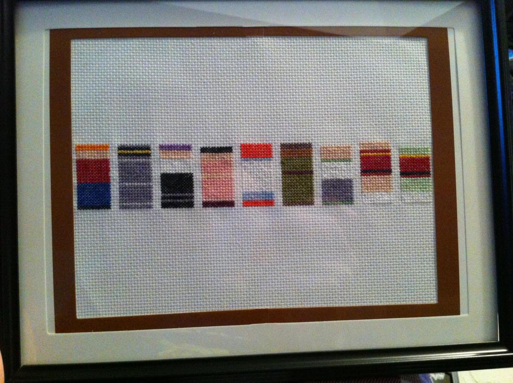 Futurama minimalist sprites - framed cross stitch by Eisoptrophobic ...