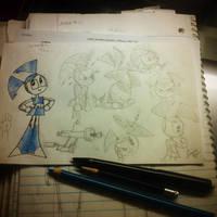 XJ-9 Sketches by Donnietu