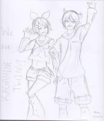 Kagamine Twins by oheka