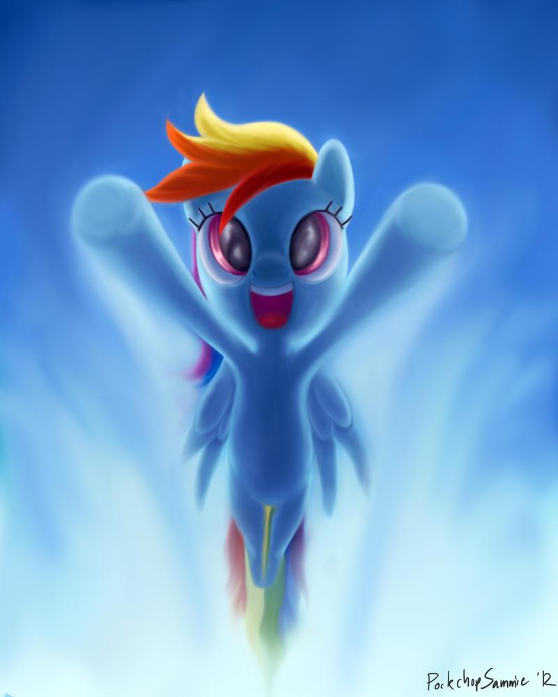 Rainbow Dash by porkchopsammie