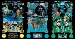 STAR WARS poster trilogy by MATTBUSCH