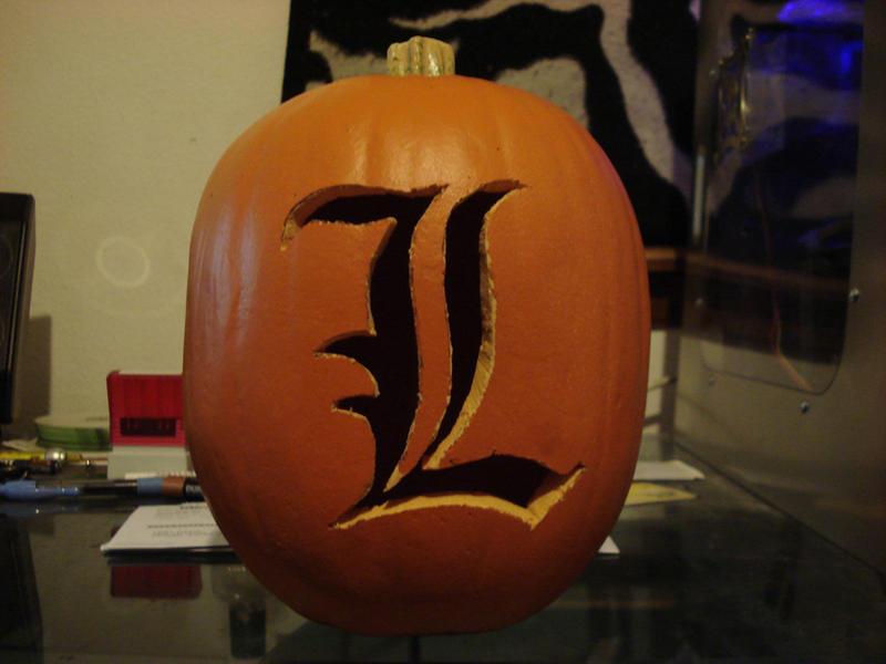 L death note pumpkin by rebelats on deviantart