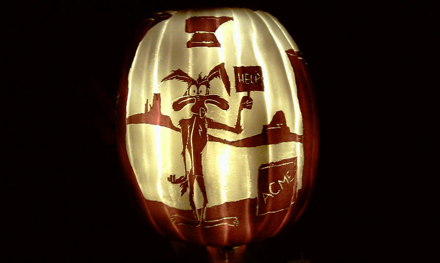 Wile E Coyote Pumpkin by RebelATS