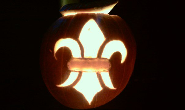 Saints Fleur De Lis Pumpkin by RebelATS
