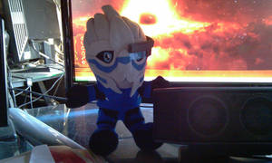 Shepard's Little Garrus by RebelATS