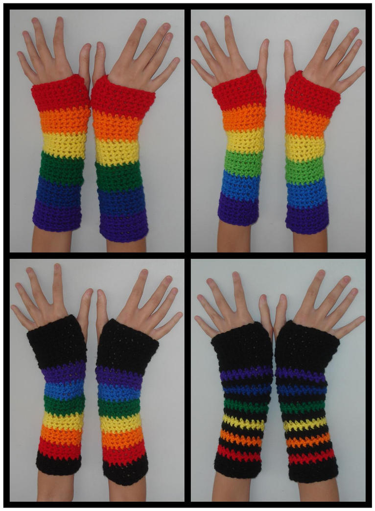 Rainbow Armwarmers by RebelATS