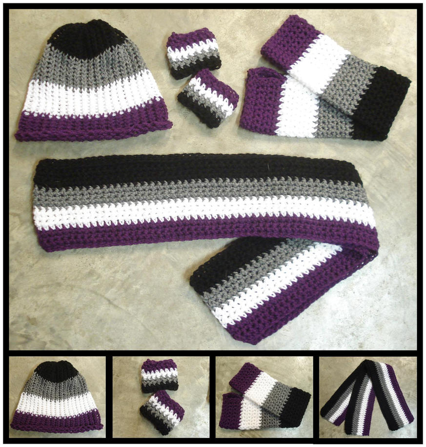 Asexual Pride Mix and Match Accessories by RebelATS